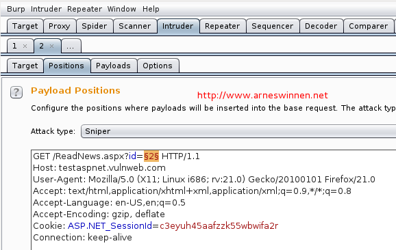 Automated SQL Injection Detection   Arne Swinnen's Security Blog